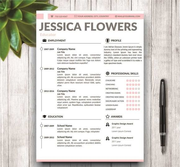 36 best CV images on Pinterest Resume design, Design resume and - good words to describe yourself on a resume