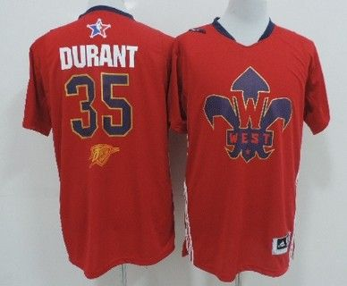 Oklahoma City Thunder 35 Kevin Durant 2014 All-Star Revolution 30 Swingman  Red Jersey ... 82282d433