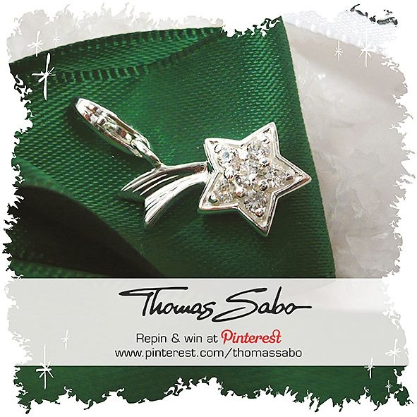 One lucky winner will be drawn on December 21, 2012! Important: Your facebook or twitter account must be linked to your Pinterest profile! Terms and conditions:   http://images.thomassabo.com/www/2/2012/11/TC-Pinterest-Xmas-Sweepstake.pdf