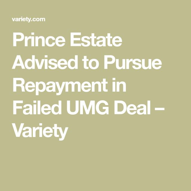 Prince Estate Advised to Pursue Repayment in Failed UMG Deal – Variety