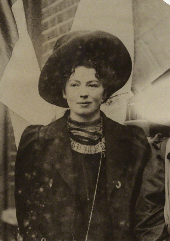 Christabel Pankhurst, English suffragette leader.  By unknown photographer  Bromide print, mid 1900s