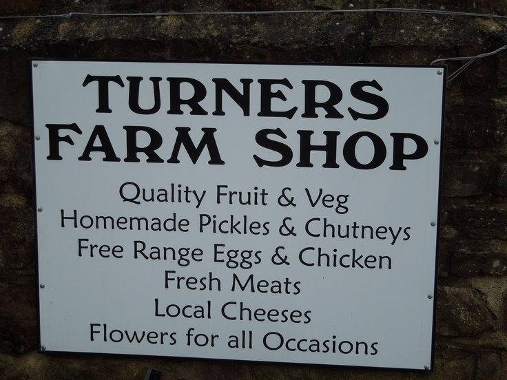Turners Farm Shop.