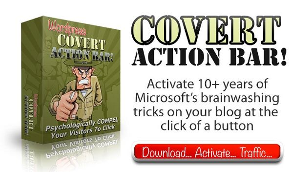 Covert Action Bar 2.0 wordpress plugin is the easiest and most effective way to monetise any WordPress blog.