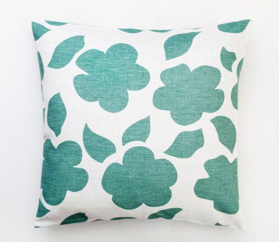 Mint Decorative pillow cover cotton throw pillows  by pillowlink
