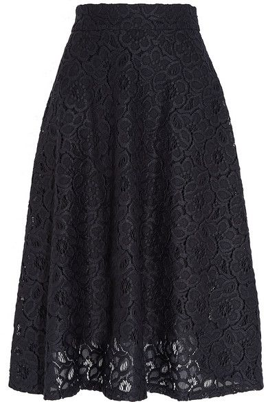 Midnight-blue guipure lace Concealed hook and zip fastening at side  100% polyester  Hand wash