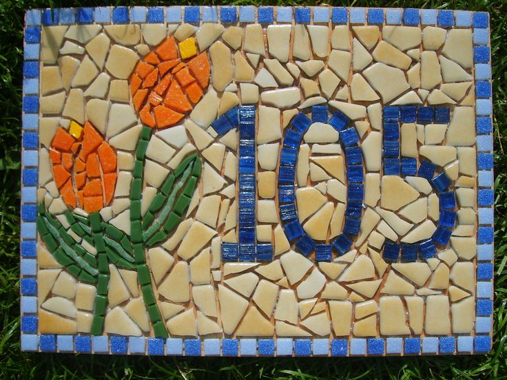 https://flic.kr/p/6trvWk | Tulips (Mosaic House Number 105) ungrouted