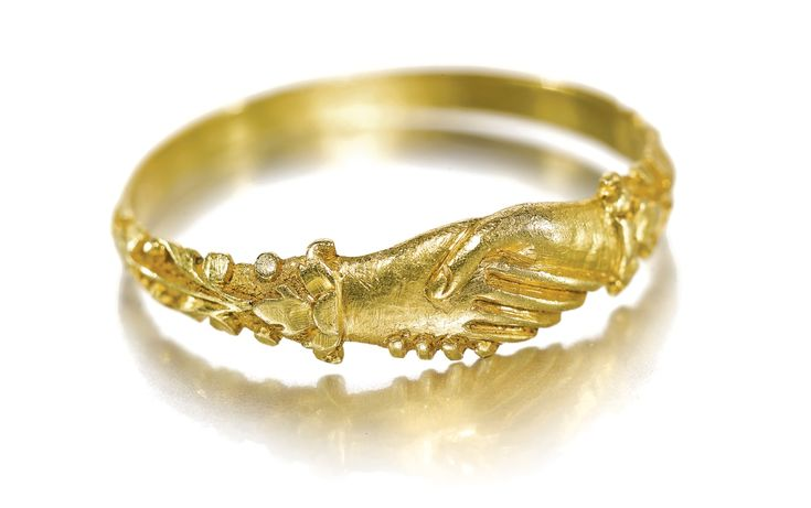 ENGLISH, LATE 15TH/ 16TH CENTURY FEDE RING gold