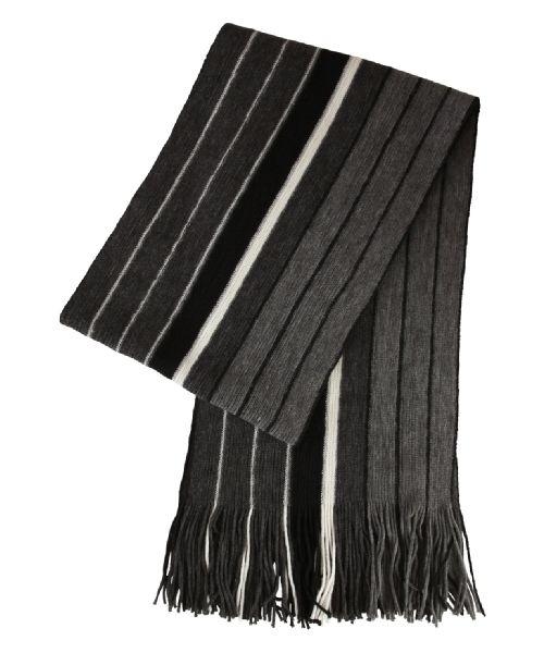Men's brody fringed stripe scarf at bootlegger.com