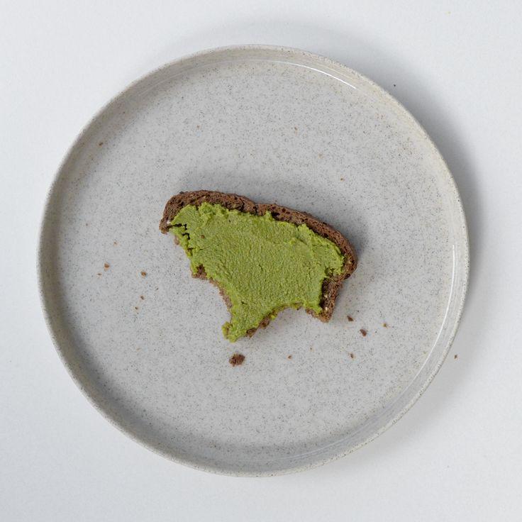 Green nut spread - matcha nut butter on toast