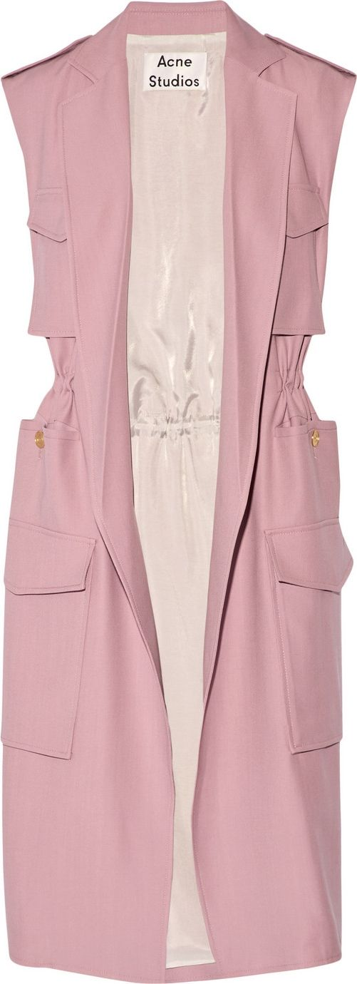 Spring Trend: Pink Pastel Sleeveless twill trench coat $950 at NET-A-PORTER | Styloko.com
