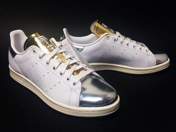 Adidas Originals Stan Smith Metallic Pack SILVER Metal Toe B24699 Size US 6  - 10