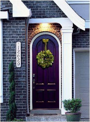 purple arched door