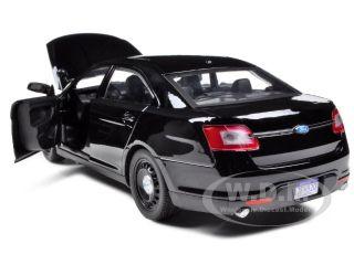 2013 Ford Police Interceptor Unmarked Black Car 1 24 Diecast Model By Motormax