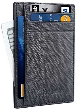 Travelambo Front Pocket Wallet Minimalist Wallets Leather Slim Wallet RFID Blocking (Crosshatch Black) At Amazon Men's… #coupons #discounts