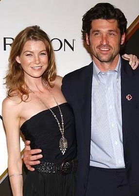 ellen pompeo and patrick dempsey   ... with a couple of familiar faces : Ellen Pompeo and Patrick Dempsey
