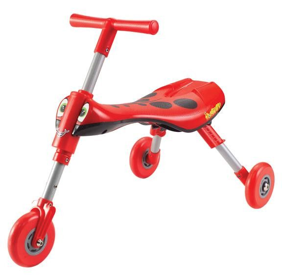 Scuttlebug - Tricycle pliant rouge