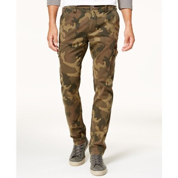 True Religion Men's Slim-Fit Cargo Pants ($179) ❤ liked on Polyvore featuring men's fashion, men's clothing, men's pants, men's casual pants, edh camo, mens slim camo pants, mens camo pants, mens slim pants, mens camouflage cargo pants and mens cargo pants
