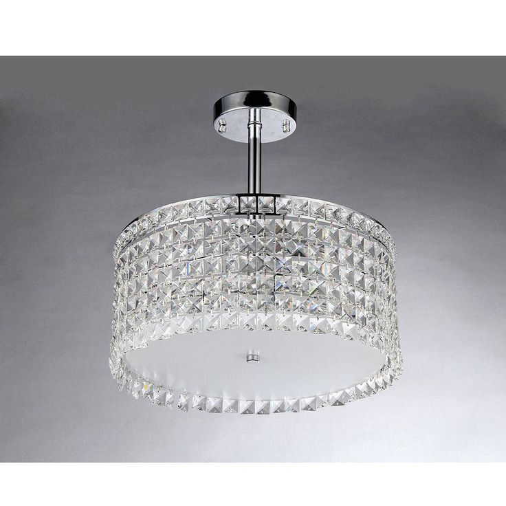 Warehouse of Tiffany Garcia Crystal 4-Light Chrome Chandelier-X9118 - The Home Depot - $187.56