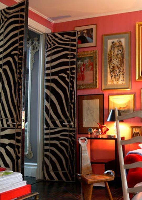 And these zebra upholstered doors is on definitely on my list of things to do at some point in my lifetime…A-Z Home Decor Trend 2014: Zebra