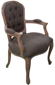 Dining Room Chair French Quarter Tufted Frame Arm