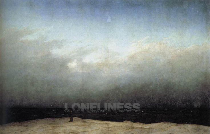 DAY3  loneliless on  friedrich caspar david - monk by the sea
