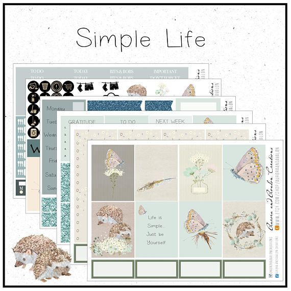Simple Life..Hedgehogs and butterflies