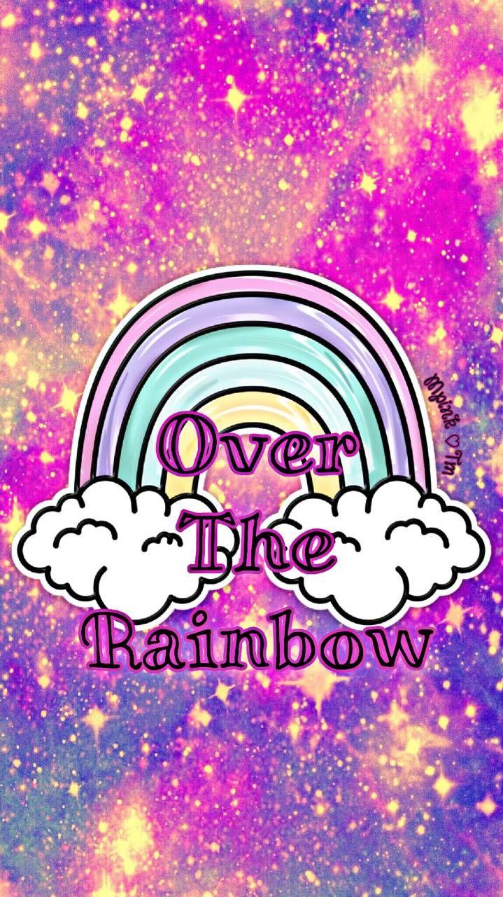 Over The Rainbow Galaxy Wallpaper Androidwallpaper Iphonewallpaper Wallpaper Galaxy Sparkle Glitter Lo Rainbow Wallpaper Galaxy Wallpaper Rainbow Galaxy