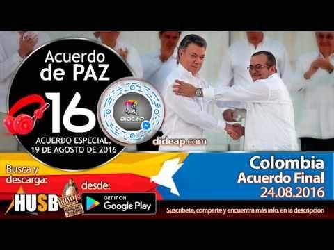 Acuerdo de Paz de Colombia en Audio Libro 16 Plebiscito 2016