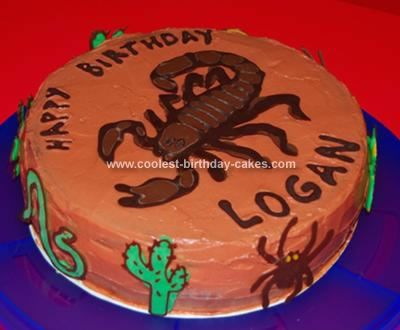 Coolest Scorpion Cake Homemade The O Jays And Cakes