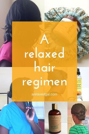 My Relaxed Hair Regimen | If you have relaxed hair and are looking to start a healthy regimen here's one place to start. Here's my relaxed hair regimen and the products I use. ~ arelaxedgal.com