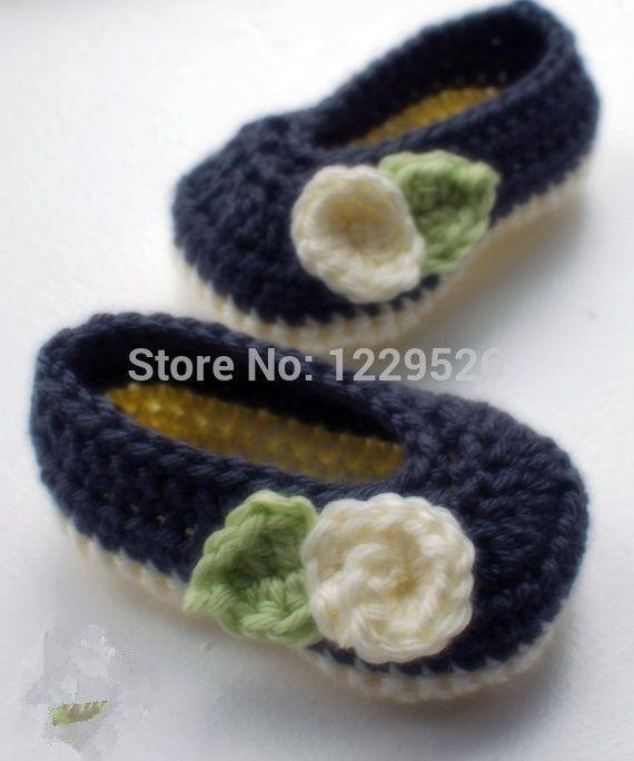 Вязаные младенца вязания крючком мэри джейн - вязаные пинетки ребенка