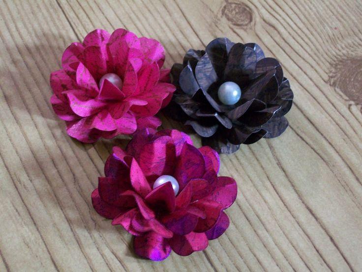 69 best handmade flowers images on pinterest fabric for Handmade paper flowers tutorial