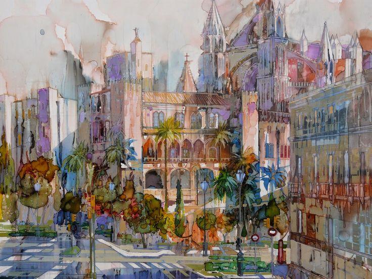 Catedral De Palma , Mallorca disponible en Galeria Jaime III, Palma.      Calle San Miguel, Palma. Disponible en Galeria Jaime III, Palma ...