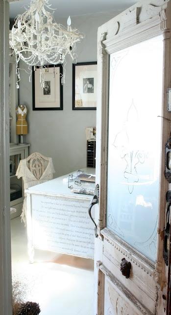 Love the idea of glass door into my sewingroom.: The Doors, Interiors Doors, Art Studios, Crafts Rooms, Offices Spaces, Exterior Doors, Creative Company, Antiques Doors, Glasses Doors