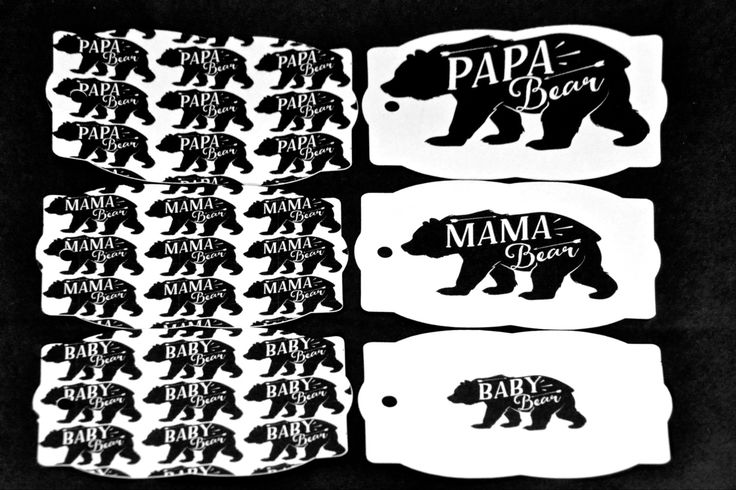 Bear Family Gift Tags, Mama Bear, Papa Bear, Baby Bear, Mommy, Daddy, Baby, Tags, Presents, Gifts, Family,Mother's Day,Father's Day,Birthday by TheArtOfCreativityCo on Etsy