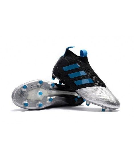 sports shoes b659a 57bea ... adidas muži ace 17 purecontrol fg pevnÝ povrch Černá stříbro modrý  kopačky