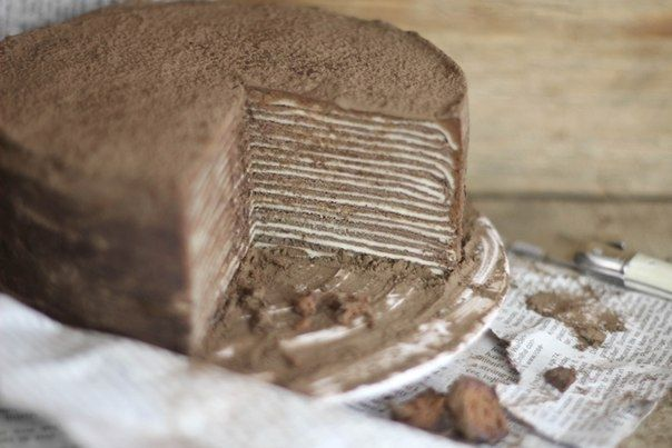 Шоколадный торт с амаретто Ингредиенты: Шоколадный торт с амареттоТесто для блинчиков: Яйцо - 6 шт Мука - 1 стакан Сливки - 1/2 стакана Ванилин - 1/2 чайной ложкиМолоко - 1 с...