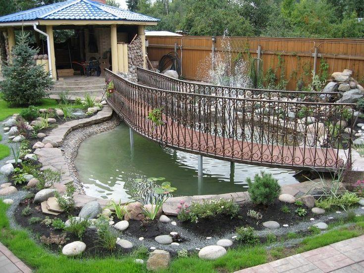 Les 25 meilleures id es de la cat gorie pont en bois sur pinterest terrasse ext rieure id es - Idee amenagement bassin de jardin la rochelle ...