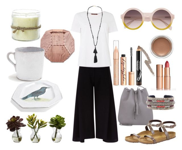 simple outfit by ioana-constantin-1 on Polyvore featuring MaxMara, Victoria, Victoria Beckham, Birkenstock, Yves Saint Laurent, Isabel Marant, Charlotte Tilbury, Sephora Collection, Astier de Villatte, Tom Dixon and Nearly Natural