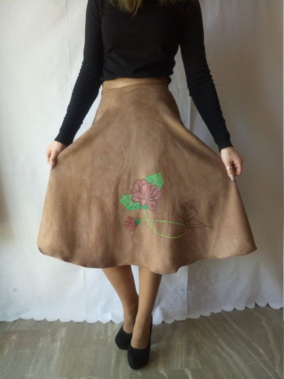 Handmade painted circle skirt One of a Kind!
