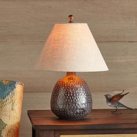 From sundancecatalog com · autry table lamp this earthy alluring hammered brass base table lamp was designed