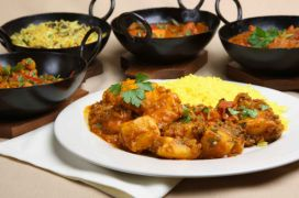 €19 instead of €40 for Two Starters & Two Main Courses with Naan Bread/Rice for Two People at the Blue Mango Cafe!!!