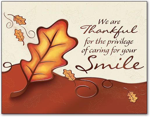 dental autumn images | Watercolor Trees Thanksgiving 4-up Laser Card