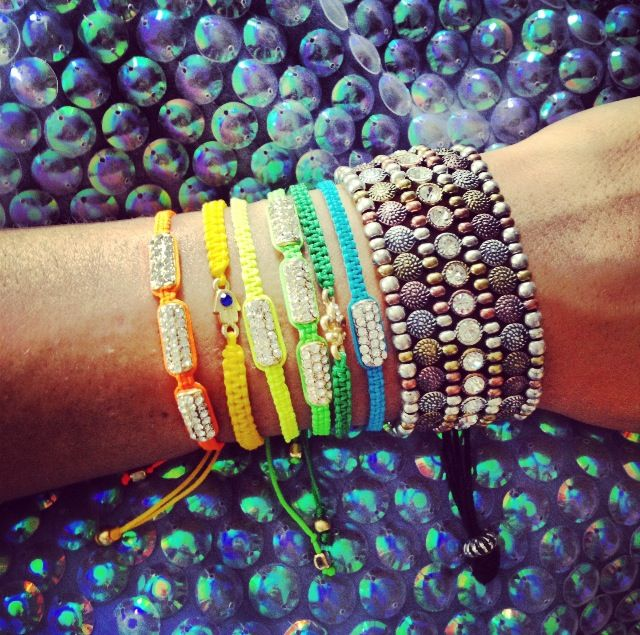The Man Repeller: Baubles Bar, Arm Candy, Macrame Bracelets, Men Repellent, Fashion Style, Color, Stacking Bracelets, Friendship Bracelets, Arm Parties