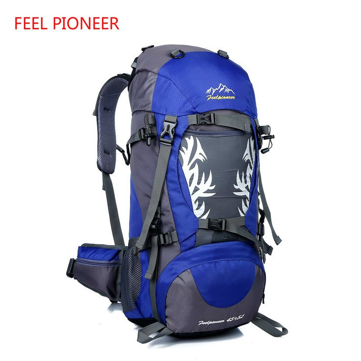 FEEL PIONEER The new flame outdoor sports mountaineering bag camping Camping Backpack professional waterproof bag 45+5L