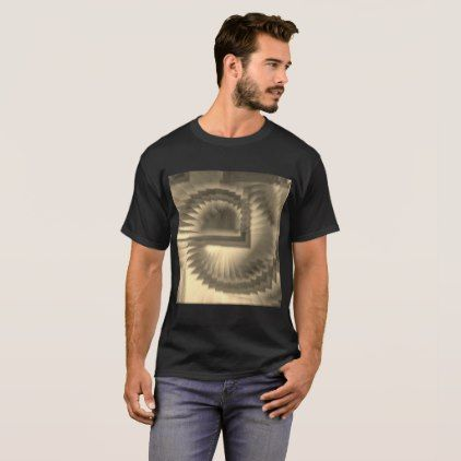 Spirals in sepia T-Shirt - modern style idea design custom idea