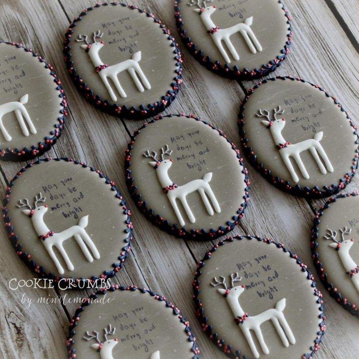 White reindeer cookies by Mint Lemonade (Cookie Crumbs)