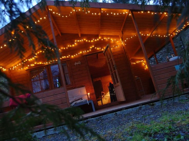 Entire home/flat in Abergwesyn, GB. Cozy wooden cabin in the heart of Wales set amongst the forest of beautiful Abergwesyn. Great base for walkers, bikers and cyclists or as a romantic getaway.