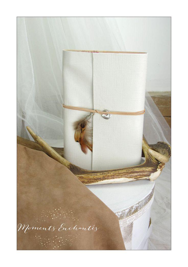 Votre carnet de chasse en cuir blanc cadeau par MesPetitsPeches
