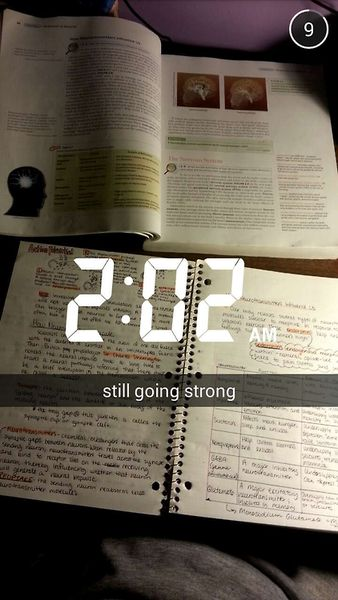 study motivation (side note: studying at 2 am probably isn't the healthiest life choice)